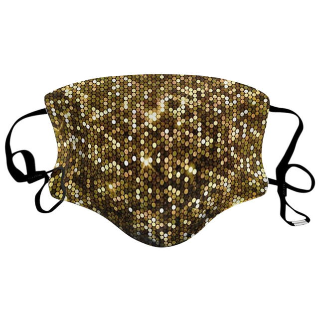 #H30 Sequin Print Dustproof Windproof Face Mask Women Girls Anti Pollution Anti-spitting Protective Mouth Mask Respirator 2