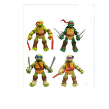 4pcs/set Ninja Cartoon Turtle action figures action Movable doll toy Kids Decoration toys