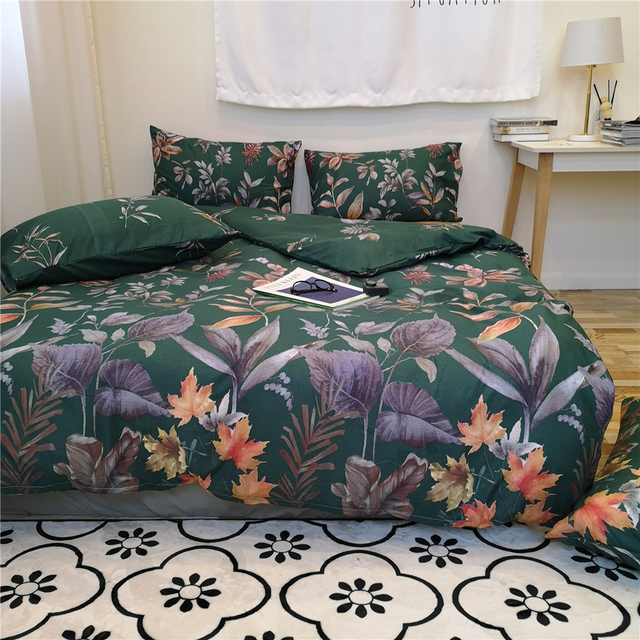 Hot Promo 9e19 Luxury Green Bedding Sets 2pcs 3pcs Home Textile Comforter Bedroom Duvet Cover Set 200x200 King Queen Twin Size Cicig Co