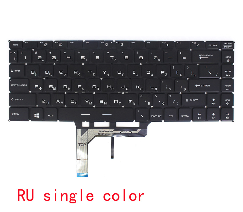 Original New for MSI PS63 MS-16S1 PS63 Modern 8RD 8SC 8M 8RC Laptop Keyboard US Black with Backlit