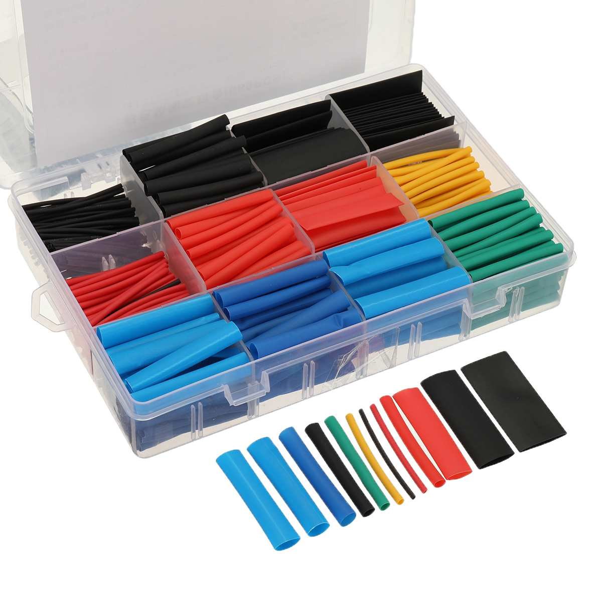 560Pcs Heat Shrink Tubing 2:1 Electrical Car Wire Cable Wrap Assortment Sleeve