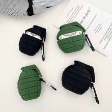 3D Cool Military Bomb Wireless Earphone Case for Apple Airpods 1 2 Headset Earpods