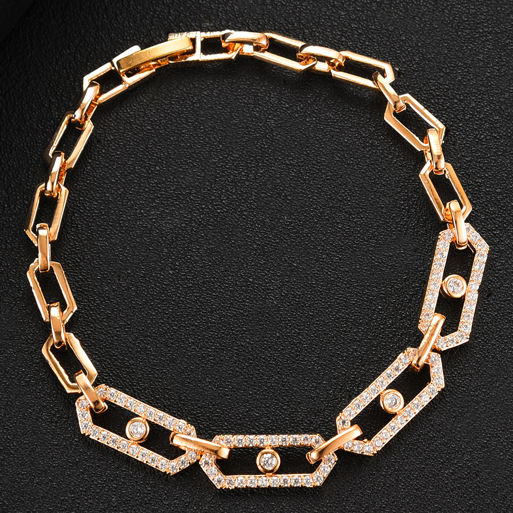 GODKI 3pcs Set Geometry Charm Jewelry Sets for Women Wedding Statement Necklace Bracelet Ring Cubic Zirconia Earring Jewelry Set