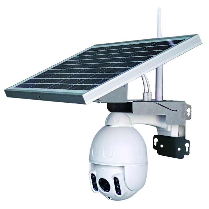 Outdoor Waterproof 1080P 4G Auto Tracking PTZ Solar Battery CCTV Camera image