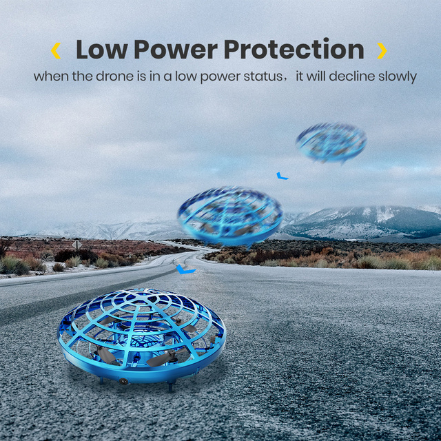 Holy Stone UFO Mini Drone Hand Operated Fly Anti Collision Quadcopter Upgraded 360 Drone Flight UFO Toys For Kids Helicopter 6