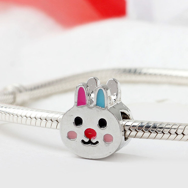 2019 newest london bus bunny i love to travel reindeer ocean diy bead Fit Pandora Charm Bracelet for women F294