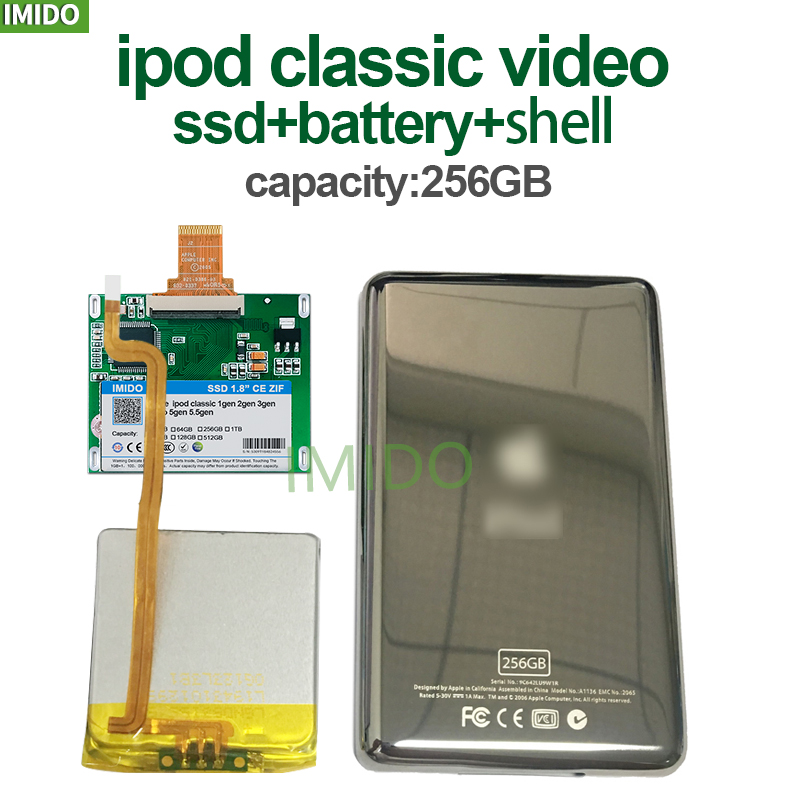 New 256G For Ipod Classic 7Gen 7th 160GB Ipod Video 5th Replace MK3008GAH MK8010GAH MK1634GAL Ipod HDD Hard Disk