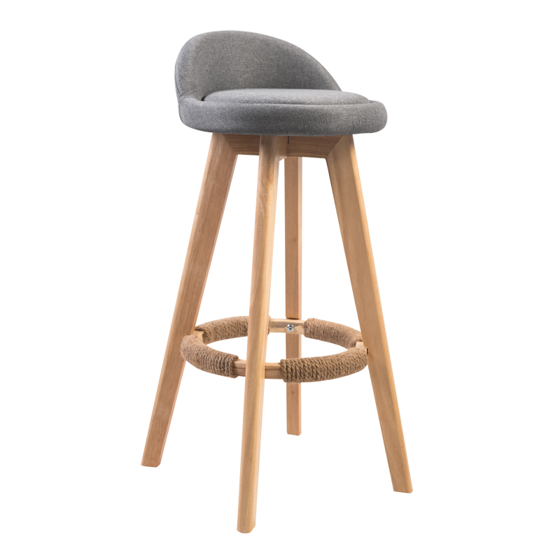American Bar Chair Modern Simple High Stool Solid Wood Bar Chair Retro Rotating  Bar Stool Bar Chair  Commercial Furniture
