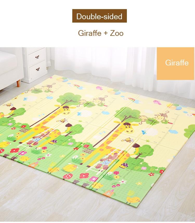 Hd252a905cac641bd98ff15b5037ec70e0 XPE Environmentally Friendly Thick Baby Crawling Play mat Folding Mat Carpet Play Mat For Children's Mat Kid Rug Playmat