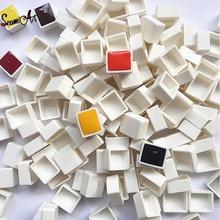 6/12/24/36/48pcs Empty Full/Half Pan White Half Pans Paint Plastic Watercolor Paint Grid Half Pans Artists Palette Art Supplies