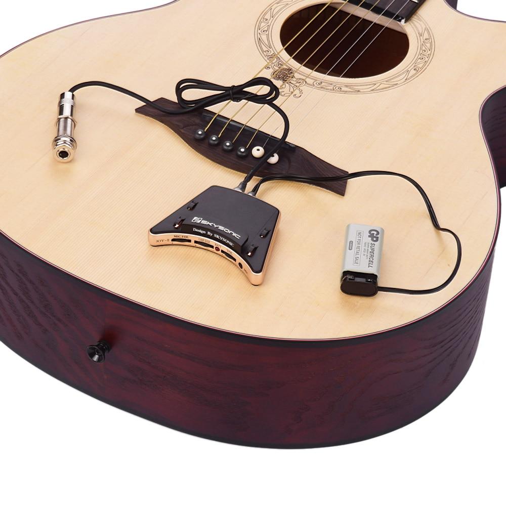 Yibuy 40 pièces sensible Piezo guitare Folk pick up avec 3/4 de longueur - 4