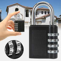 80*43*14mm Heavy Duty 4 Dial Digit Combination Lock Weatherproof Protection Security Padlock Outdoor Gym Safely Code Lock Black