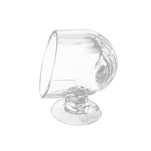 Aquarium Cone Red Worm Feeder Acrylic Suction Cups Fish Feeding Cup Transparent Worm Feeding Container Holder