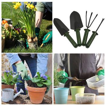 4 sztuk zestaw narzędzie ogrodnicze połączenie kwiat sadzenia łopata ogród plastikowy uchwyt czteroczęściowy kwiat łopata narzędzia ogrodnicze tanie i dobre opinie Steel Plastic Green and Black dropshipping