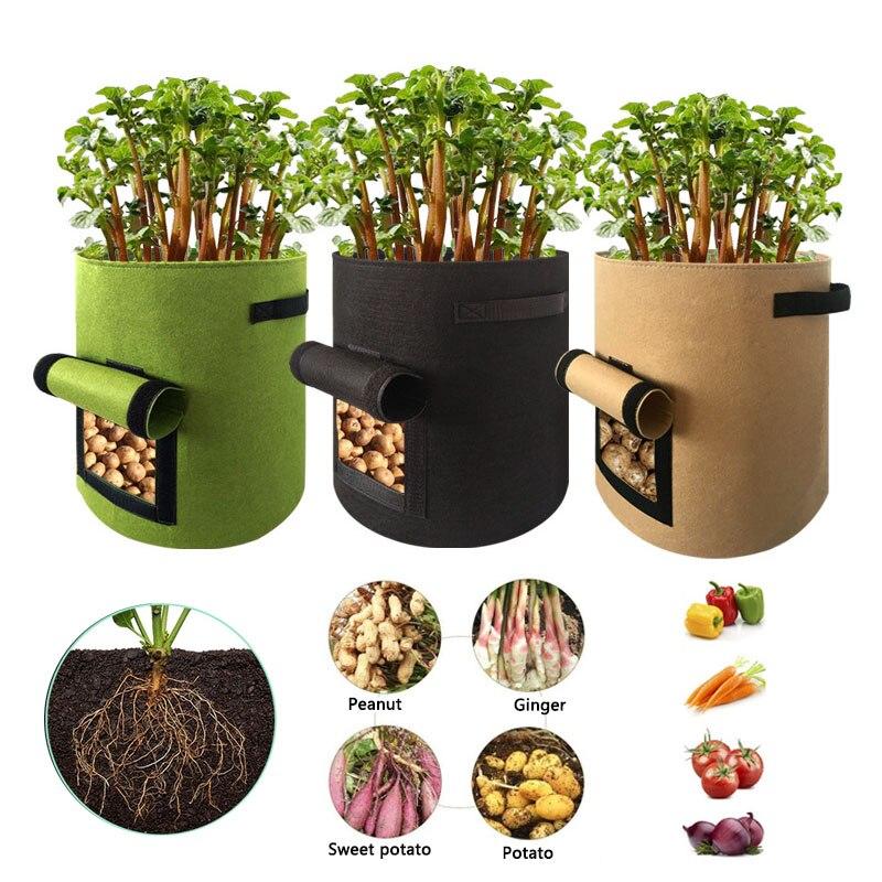 Jardin vaso de plantas de batata, saco para crescimento de sementes, jardim doméstico, tecido de mudas de frutas, hidratante para crescimento 4/7/10 galão