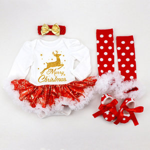Image 3 - 2020 Christmas Baby Costumes Romper Dress Santa Claus Cosplay Party Outfit Bebes Jumpsuit Newborn Baby Girls Clothes