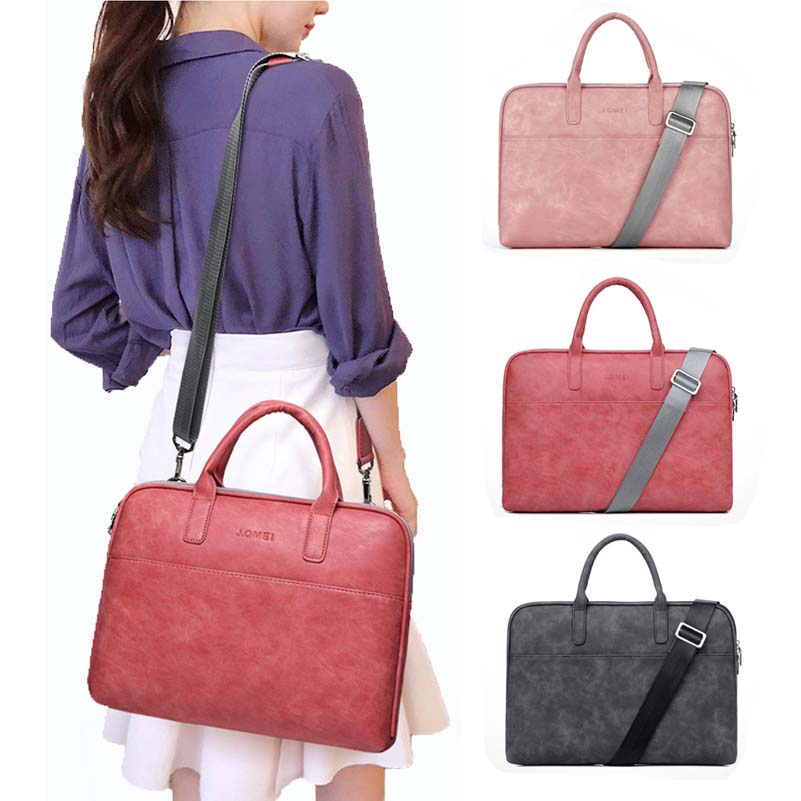 Document Briefcase Bag Women Handbag PU Leather Laptop Bag Notebook Carrying Case Messenger Business Briefcase Handbags