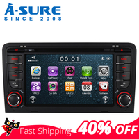 A Sure Car Multimedia 7 Inch 2 Din Auto Radio Stereo DVD Player GPS Navigation For AUDI A3 S3 RS3 8V 8PA DAB+ 3G Bluetooth SWC
