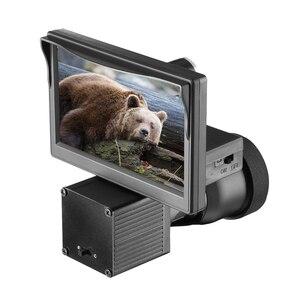 Night vision HD 1080P camera 5.0 inch display conjoined infrared illuminator Riflescope hunting optical system(China)