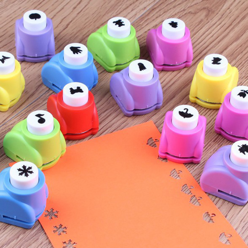 1 Pcs Mini Scrapbook Hole Puncher For Kids DIY Tag Punch Handmade Embosser Mechine School Office Stationery Art Supplies