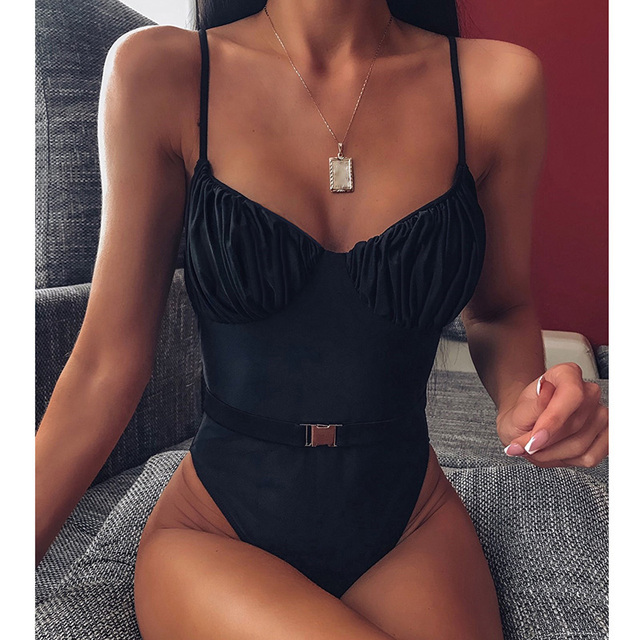 Push Up une pièce maillot de bain pour femme maillot de bain léopard femme ceinturée body maillot de bain ruché vêtements de plage coupe haute maillot de bain