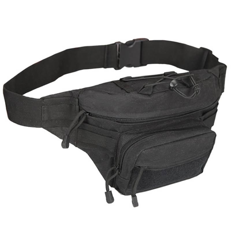 Super Sell-Outdoor Sports Leisure Waterproof Waist Bag Utility Magazine Pouch Riding Pockets Phone Camera Bags Hunting Bags Blac