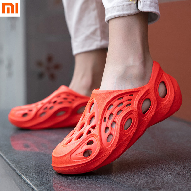 NEW XiaoMi Mijia Coconut Sandals Men's Summer Lightweight and Comfortable Hollow Personality Sandals Beach Shoes For Smart Home(China)