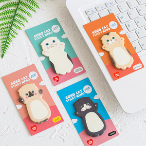 Image 4 - Lovely Cat Sticky Note Cartoon Cute Cat Shape Memo Pads 40pcs/lot