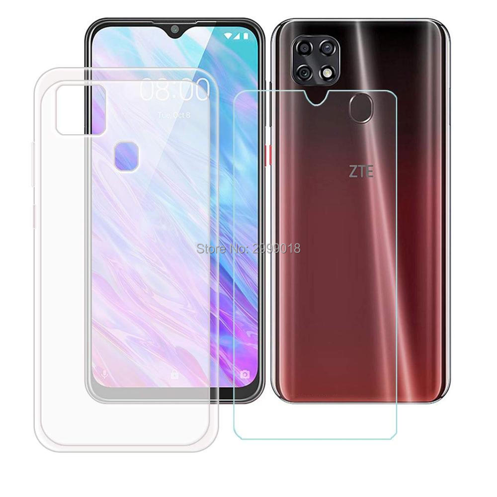 For ZTE Blade 20 Smart 2019 Case Cover + Screen Protector Tempered Glass Protective Film For ZTE Blade 20 Smart 2019 6.49 Inch