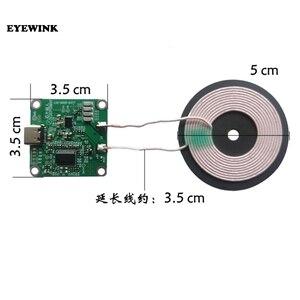 15W alta potência 5V 12V módulo transmissor sem fio do carregador de carregamento rápido-Tipo c USB + bobina qi bateria DO TELEFONE universal PARA O CARRO