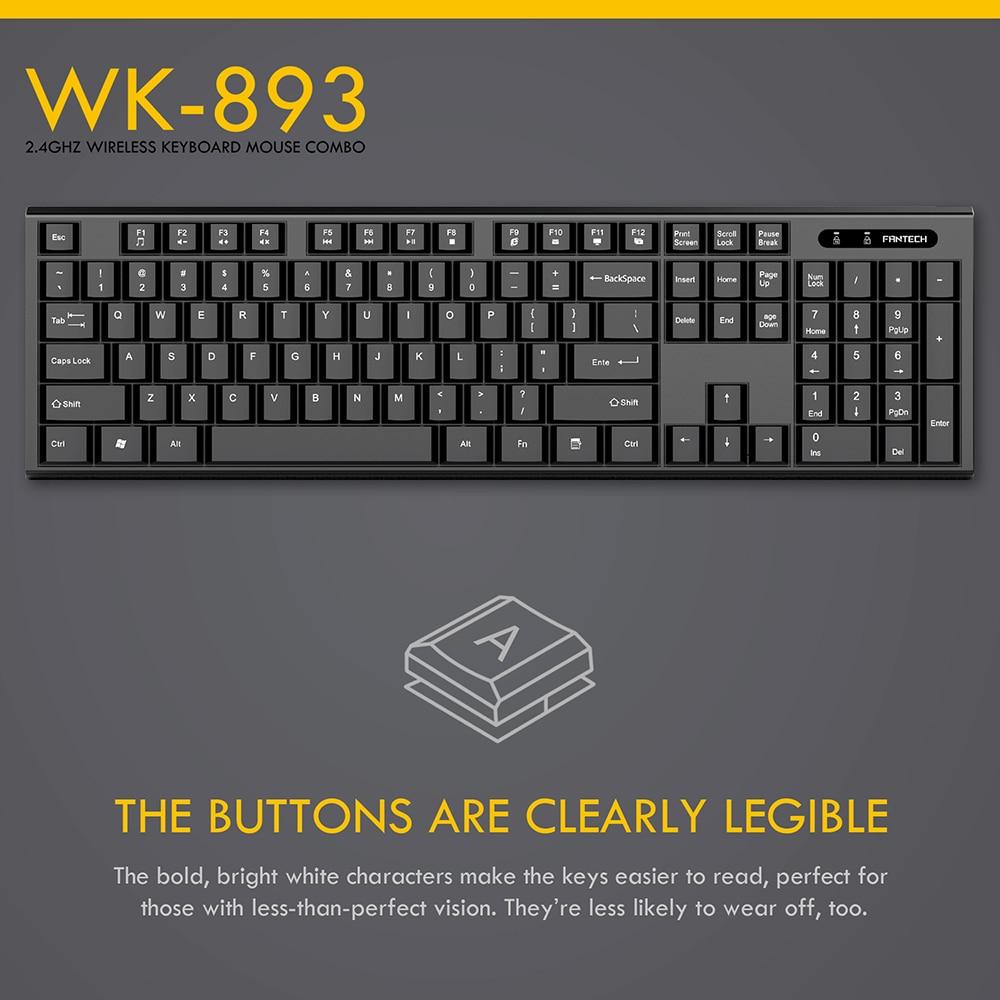 Fantech WK-893 Wireless Keyboard Mouse Combo 6