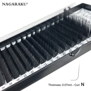 Image 5 - NAGARAKU N תלתל L תלתל 7 ~ 15mm לערבב פו מינק ריסים בודדים רך טבעי ריסים ריסים ריסי ריס הארכת
