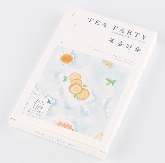A67- Tea Time Paper Postcard(1pack=30pieces)