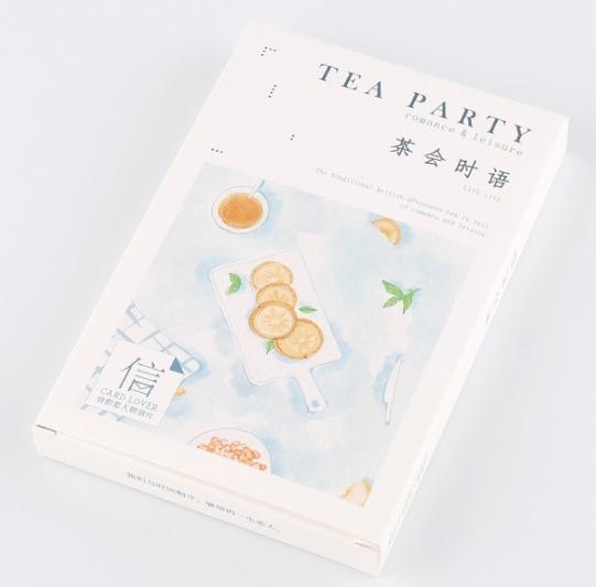 Tea Time Paper Postcard(1pack=30pieces)