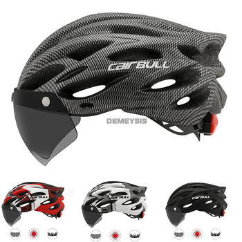 Cairbull Ultralight Cycling Helmet with Removable Visor Goggles Bicycle Rollers Riding Helmets Motorcycle Protective Bike Helmet