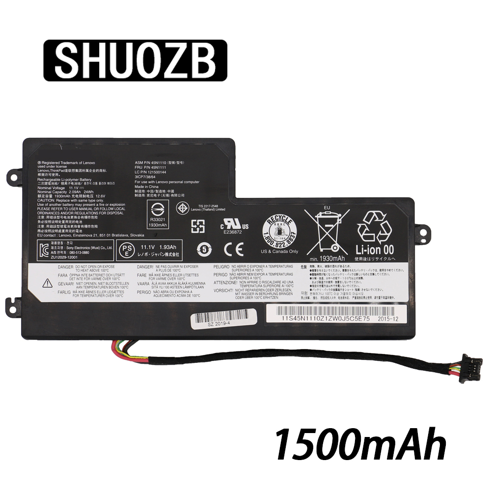 1500mAh 45N1110 45N1111 45N1108 45N1109 45N1112 Laptop <font><b>Battery</b></font> For <font><b>Lenovo</b></font> ThinkPad <font><b>T440</b></font> T440S T450 T450S X240 X250 X260 old image