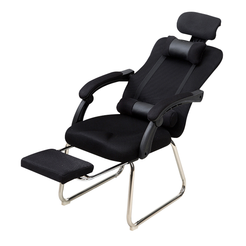 Computer Chair Household Can Lie Down Public Chair Net Cloth Staff Chair Conference Chair Student Dormitory Chair Bow Back Seat