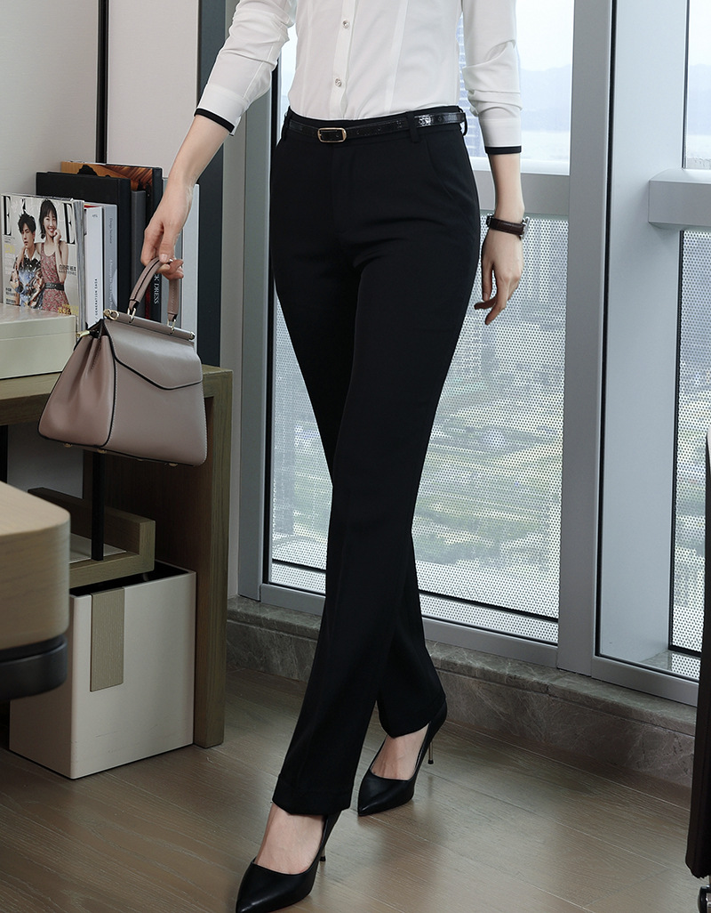 Hd2540de2902b410cbd59dbf700bebb05J - Fashion Formal Pants for Women Business Work Wear Office Lady Long Trousers Autumn Winter Plus Size 4XL XXXL Pants Female