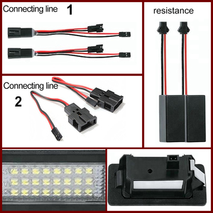 Image 5 - 2Psd Canbus Error Free LED License Number Plate Light For Audi A6 S6 RS6 A5 S5 RS5 TT 8J Q5 Q3 A3 A4 S4 A1 S1 A7 S7 RS7