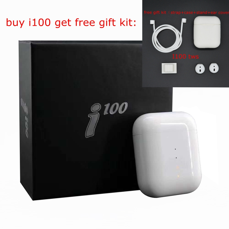 Fviyi i100 TWS 1 1 as AP wireless charging Bluetooth 5 0 Earphone Stereo Earbud Handsfree pop up headset with Microphone in Phone Earphones Headphones from Consumer Electronics