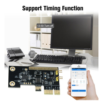 EWeLink WiFi беспроводной смарт-переключатель релейный модуль мини PCI-e Настольный переключатель карта перезапуск переключатель включения/выклю...