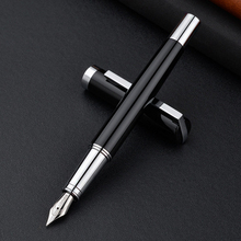 Luxury Calligraphy Fountain Pens Metal Steel Fine Tip Ink Pens School Student Office Business Writing Stationery Gifts Supplies