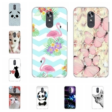 For LG Q Stylo 4 Stylus Case Soft TPU Silicone Cover Flamingo Patterned Plus Capa