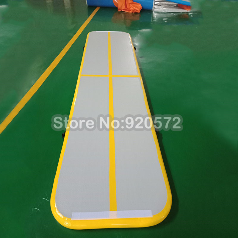 Free Shipping Free Pump 6x1x0.2m Gymnastics Inflatable Air Track Tumbling Mat Gym AirTrack For Sale