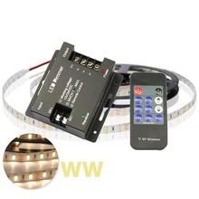 Wireless LED Dimmer DC 12V 24V 6Ax3 Channel Adjustable Timer 11 Keys RF Remote Controller for Single Color LED Strip Lights