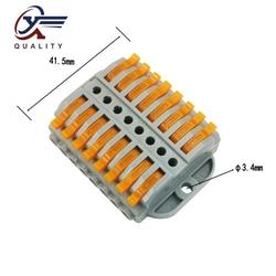 30/50/100 sztuk złącze drutu 8 pin nowy uniwersalny dokująca do szybkie okablowanie przewody push in Terminal blok urządzeń elektrycznych w Złącza od Lampy i oświetlenie na