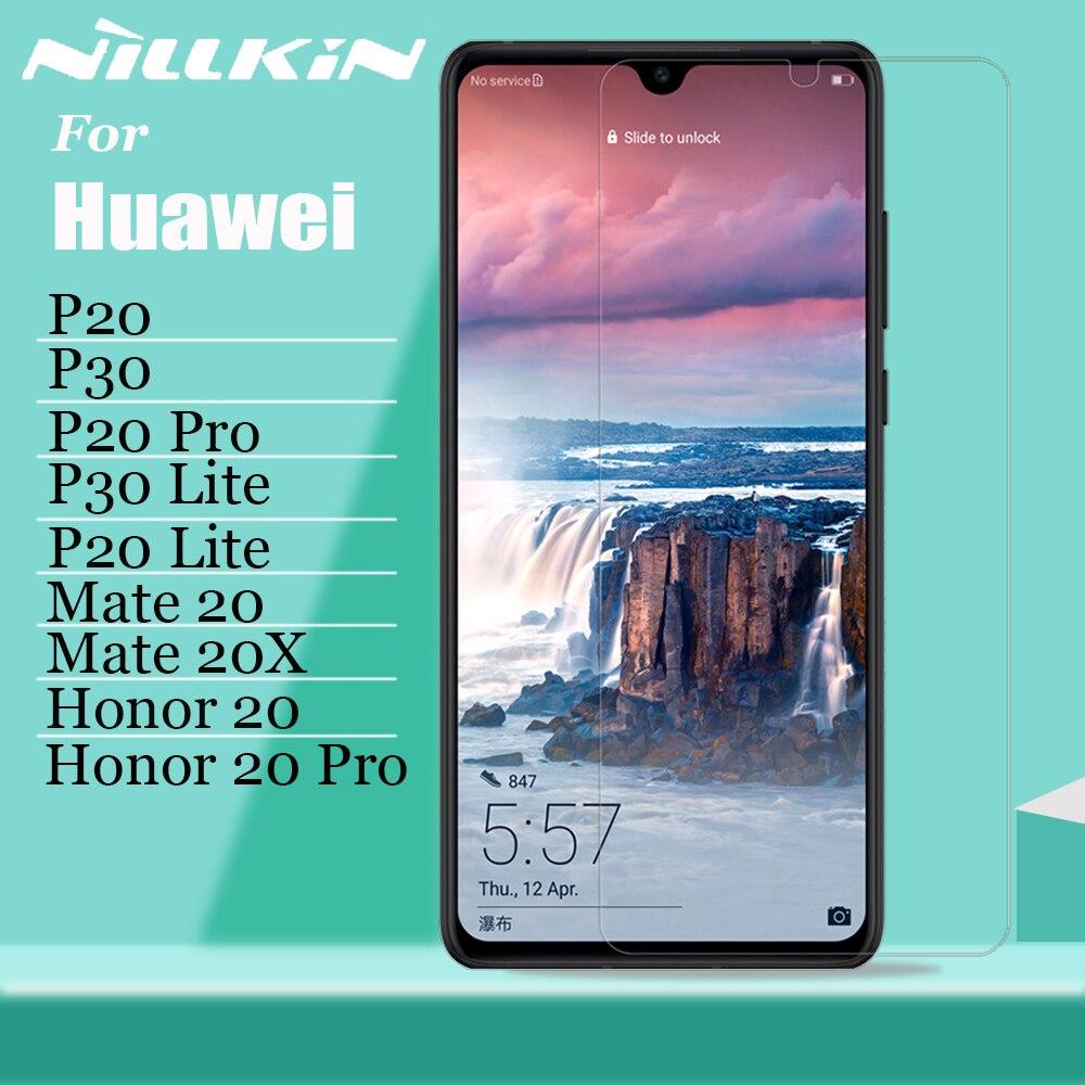 Nillkin für Huawei P30 P20 Pro Lite Glas Screen Protector Sicherheit Schutz Gehärtetem Glas für Huawei Mate 30 20 X 20X Ehre 20