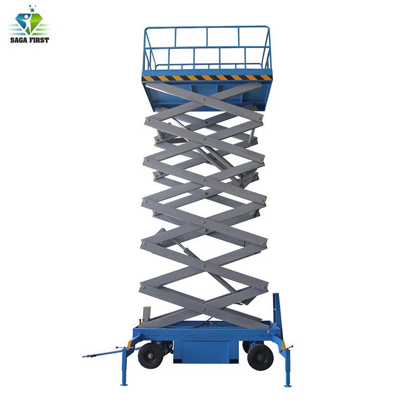 Electric Construction Scissor Man Lift Elevator With 12m 16m Lifting