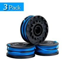 line string trimmer replacement spool 30ft 0 065inch replacement spool for black decker 3 Pack Greenworks 0.065 Inch Dual Line String Trimmer Replacement Spool