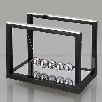 Newtons Cradle Steel Balance Ball Fun Decoration Physics Science Toy Gift S New X6HB
